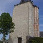 Tour de l'église après restauration en 2015