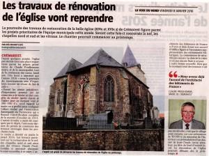 Article La Voix du Nord 08012016